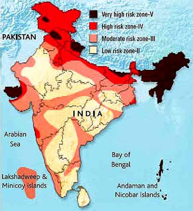 #earthquake : जानें देश में भूकंप से कहां कितना सचेत रहने की जरूरत