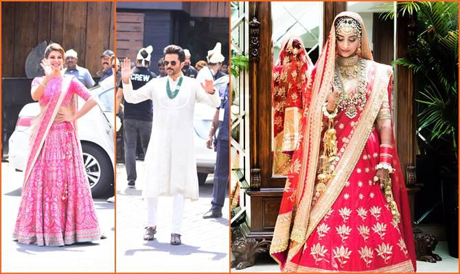 फैशन दीवा सोनम कपूर जब यूं नजर आईं दुल्हन के लिबास में,तो रुक गया जहां!