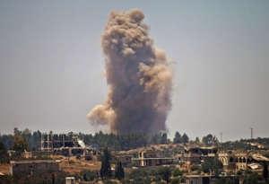 दक्षिणी सीरिया में रूसी हवाई हमला, अब तक 42 नागरिकों की मौत