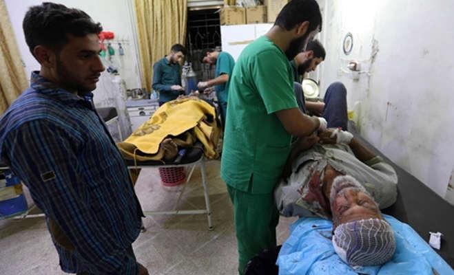 सीरिया के इडलीब में हवाई हमला,38 लोगों की मौत
