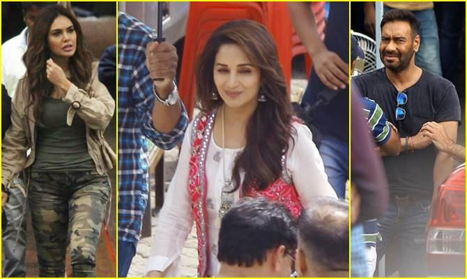 अजय देवगन की टेंशन पर भारी पड़ी माधुरी की क्यूट स्माइल, 'टोटल धमाल' के सेट पर दिखा ये नजारा