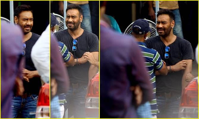 अजय देवगन की टेंशन पर भारी पड़ी माधुरी की क्यूट स्माइल,'टोटल धमाल' के सेट पर दिखा ये नजारा