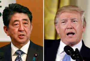 अमेरिका में ट्रंप और जापानी पीएम आबे ने कोरियाई प्रायद्वीप को परमाणु मुक्त बनाने पर की चर्चा