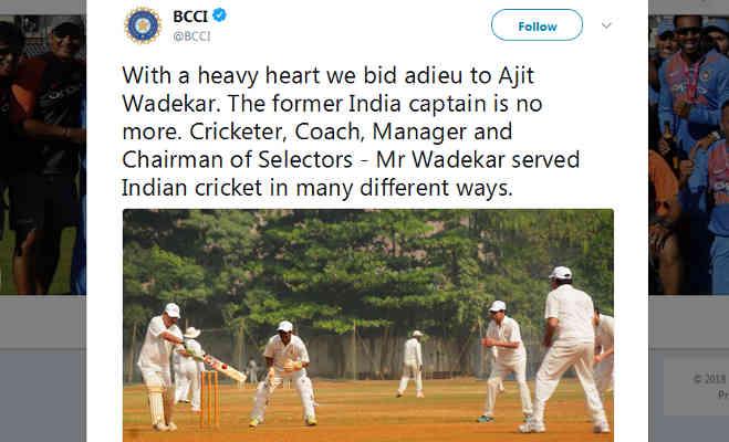 टीम इंडिया के पहले वनडे कप्तान अजित वाडेकर का 77 साल की उम्र में निधन
