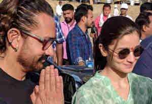 मजदूर दिवस : आलिया भट्ट और आमिर खान बने मजदूर, फावडा़ चला की खुदाई, देखें तस्वीरें