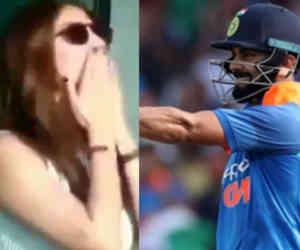 Ind vs Eng : बीच मैच में विराट को फ्लाइंग किस देने लगीं अनुष्का, वजह थी ऐसी