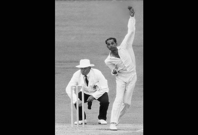Image result for Bowler, who has bowled 21 consecutive over Maiden, Bapu Nadkarni