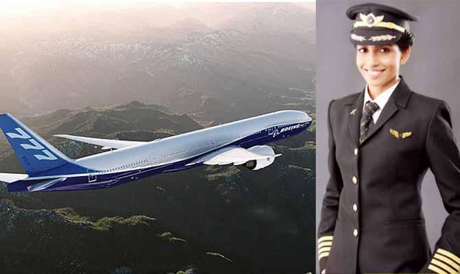 बोइंग 777 की सबसे कम उम्र की कमांडर है ये लड़की,जो पहली बार किसी प्लेन में तब चढ़ी जब उसे उड़ाना था
