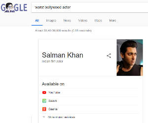 बॉलीवुड का सबसे खराब एक्टर कौन? इस सवाल का गूगल ने दिया ऐसा जवाब, न रोते बन रहा है, न हंसते!