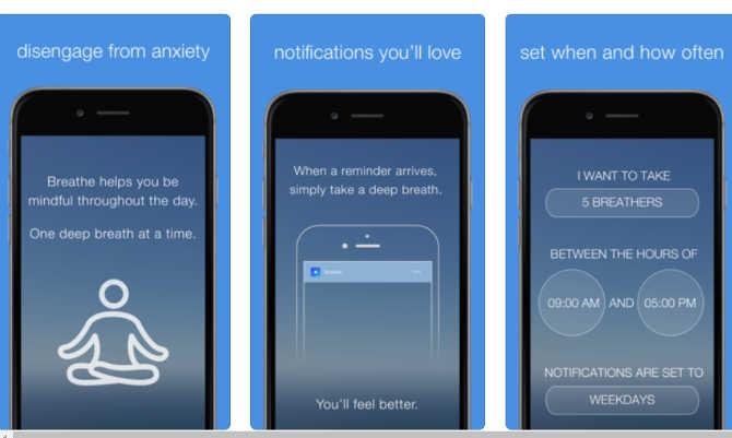 ब्रीथ ऐप : सिर्फ एक मोबाइल ऐप आपको करेगी रिलैक्स और देगी हेल्दी लाइफस्टाइल