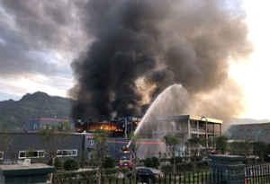 चीन : 10 मिनट के अंदर केमिकल प्लांट में सात धमाके, 19 की मौत