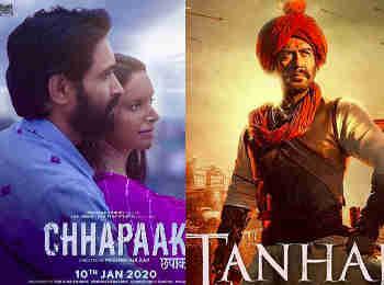 Chhapaak vs Tanhaji Box office collection weekend: तीसरे दिन हुआ साफ अजय देवगन-काजोल की तान्हाजी पड़ रही दीपिका पादुकोण की छपाक पर भारी