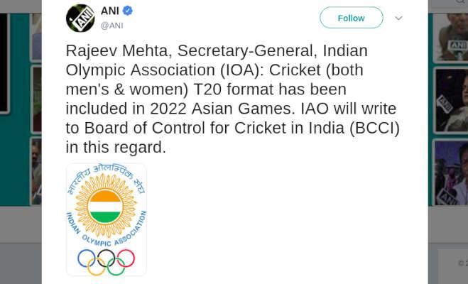 एशियन गेम्स में हो सकती है क्रिकेट की वापसी,भारत जीत सकता है गोल्ड