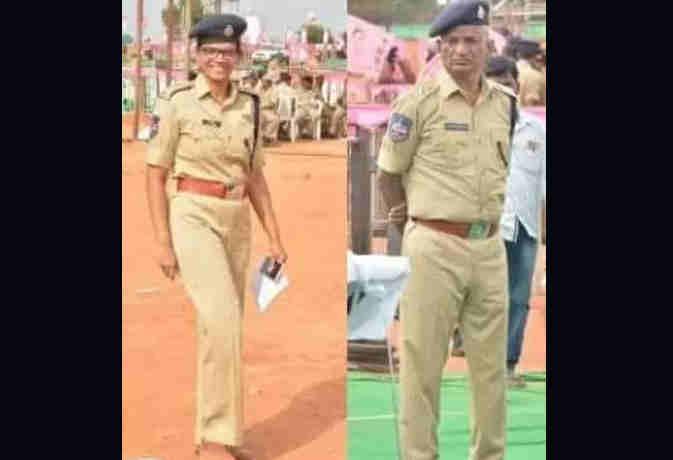 तेलंगाना सीएम की रैली में डीसीपी पिता ने IPS बेटी को किया सलाम, खुद को बताया लकी