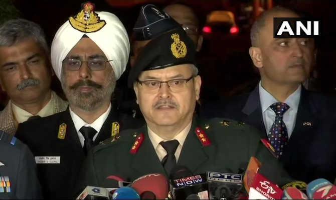 तीनों सेनाओं ने मिलकर कहा,बालाकोट मिशन रहा पूरी तरह सफल और हम हर स्थिति के लिए पूरी तरह हैं तैयार