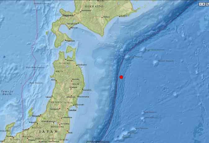 जापान में भूकंप के तगड़े झटके
