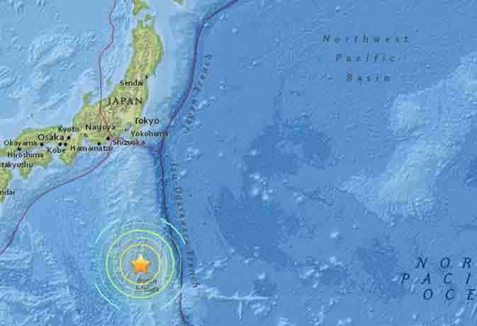 जापान में आया 6.1 तीव्रता का भूकंप