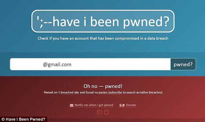 अगर इस वेबसाइट पर दिखे आपकी ईमेल id तो तुंरत बदल डालिए उसका पासवर्ड,वर्ना...