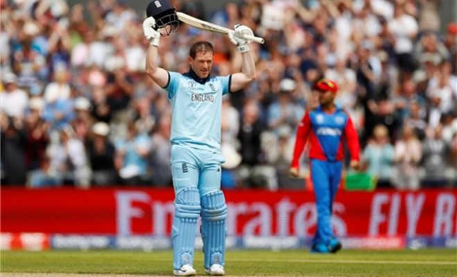 icc world cup 2019 : मोर्गन के तूफान में उड़ गया अफगानिस्तान,इंग्लैंड ने 150 रनों से जीता मैच