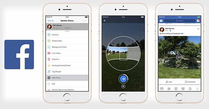 अब Facebook ऐप से ही खींच सकेंगे शानदार 360 डिग्री फोटो