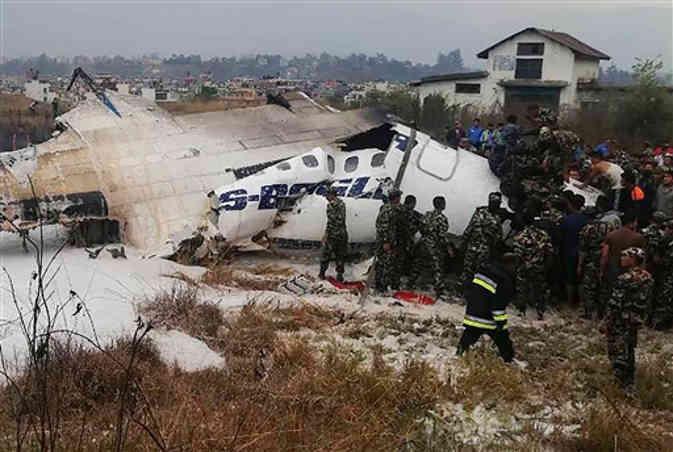 काठमांडू एयरपोर्ट पर बांगलादेश का यात्री विमान दुर्घटनाग्रस्त, 71 में से 25 यात्री बचाए गए