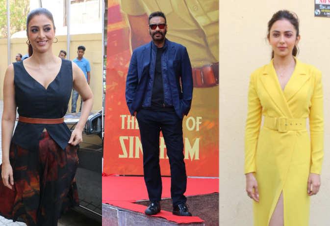 तस्वीरें: अजय देवगन के बर्थडे पर 'दे दे प्यार दे' का ट्रेलर रिलीज,साथ दिखे तब्बू और रकुलप्रीत सिंह