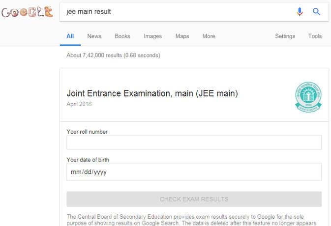 CBSE का Google से करार, गूगल होम पेज पर ही रोल नंबर डालकर देख सकेंगे रिजल्ट