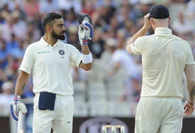 एजबेस्टन टेस्ट में जीत से बस 84 रन दूर है भारत, विराट अभी भी क्रीज पर मौजूद