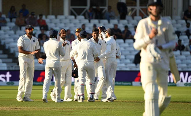 नॉटिंघम टेस्ट में भारत ने इंग्लैंड को 203 रन से हराया