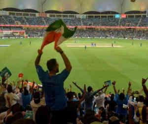 भारत-पाक मैच के दौरान फैंस की टकरार, पाकिस्तान जिंदाबाद के सामने गणपति बप्पा की जयकार