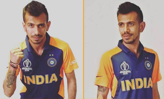 icc world cup 2019 : 'ऑरेंज' कलर की नई जर्सी में दिखी भारतीय टीम,देखें पहली तस्वीर