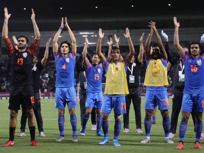 fifa 2022 qualifier: भारत ने दिखाया दम,मजबूत कतर को ड्रा पर रोका