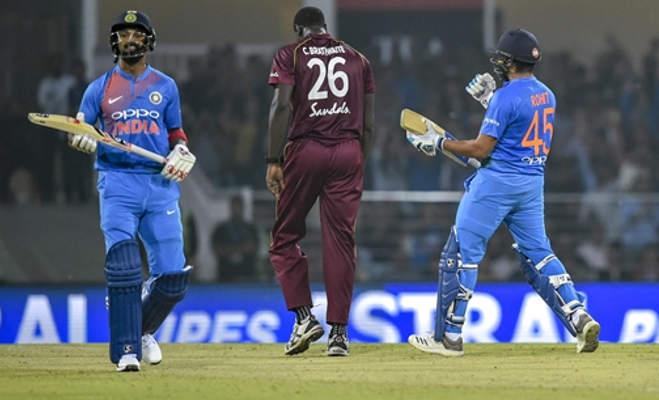 ind vs wi : दिवाली पर रोहित का धमाका,आतिशी पारी खेल विंडीज को 71 रन से हराया