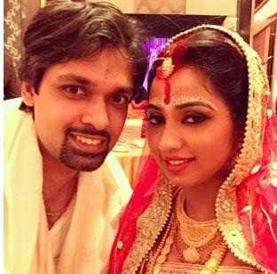 Shreya with husband