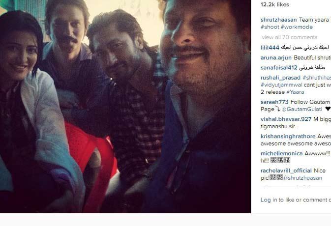 टीम 'यारा' के साथ श्रुति हासन ने लिया मुबई के मानसून का मजा