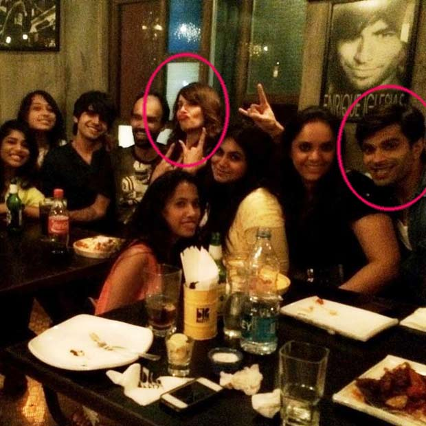 Bipasha and Karan in a party