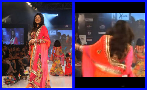 Sushmita Sen fall on ramp