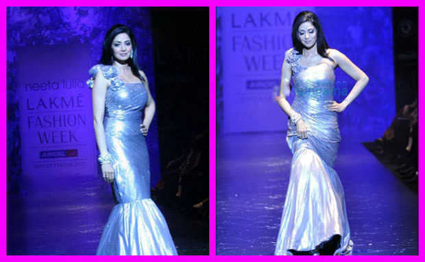 Sridevi fall on ramp