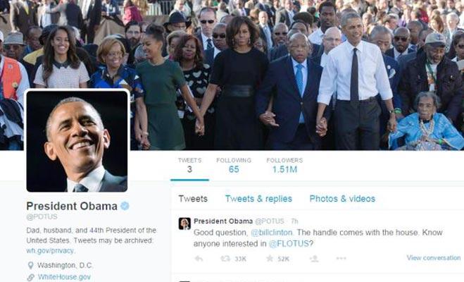 जानिए अमरीकी राष्ट्रपति चुनाव के नतीजों के बाद ओबामा के टि्वटर अकाउंट का क्या होगा