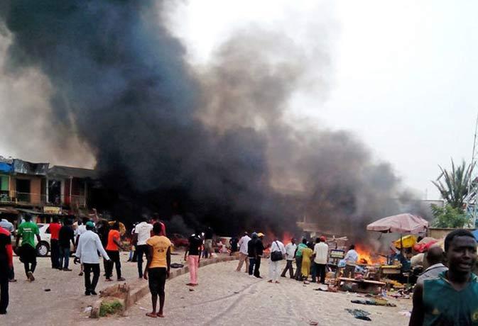 नाइजीरिया की एक मस्जिद हुए दो धमाकों में करीब 42 लोगों की मौत