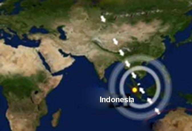 अब इंडोशिया हिला भूकंप से