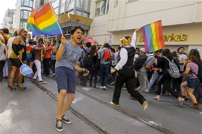 Gay march Turkey