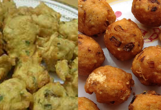 Rice pakora and mangora