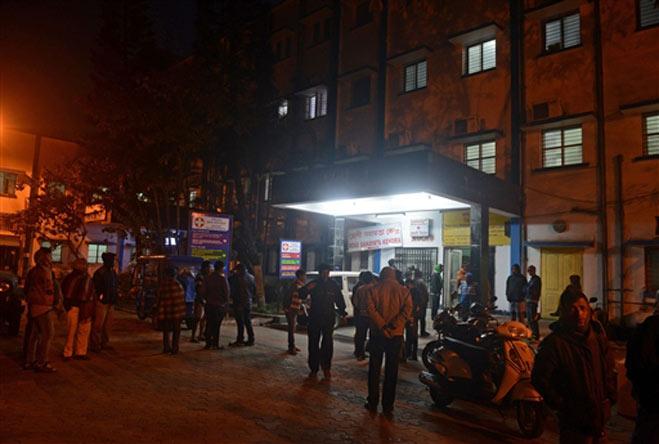 Injured are brought Siliguri Hospital