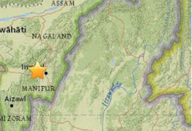 6.7 मैग्निट्यूट के भूकंप से हिला उत्तरपूर्वी भारत तीन की मौत