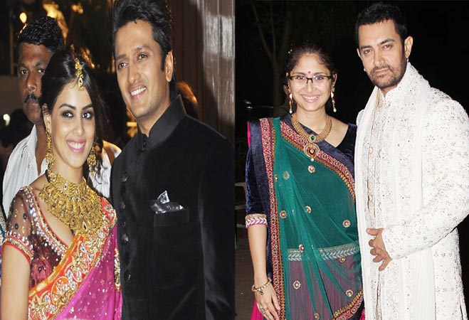 Ritesh and Aamir with wife