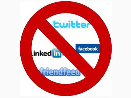 No social networking at workplace