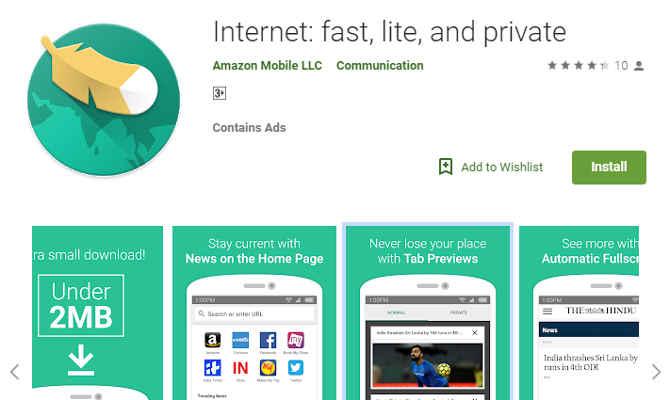 Amazon ने लॉन्च किया Lite एंड Fast इंटरनेट वेब ब्राउजर, जिस पर होगा सब कुछ प्राइवेट!