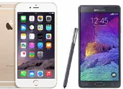 Comparison पढें: iPhone 6 Plus vs Samsung Galaxy Note 3