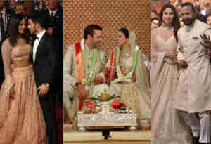 तस्वीरें: ईशा अंबानी की शादी में सितारे उतर आए जमीन पर, जानें किन बाॅलीवुड स्टार्स ने किस अंदाज में ली एंट्री